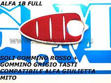 TASTI GOMMINO RICAMBIO COMPLETO TASTI PER CHIAVE TELECOMANDO ALFA MITO GIULIETTA
