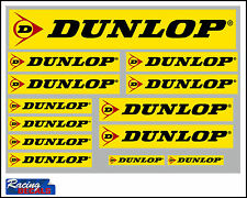 Dunlop tyres decal set 13 quality printed and laminated stickers free delivery