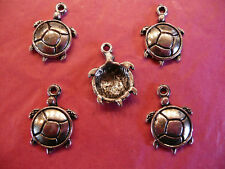 Tibetan Silver TORTUE/turtle Charms 10 Per Pack