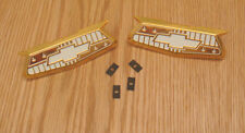 1955 1956 CHEVY BELAIR GOLD CREST EMBLEMS , NEW   pair  ** Made in USA **