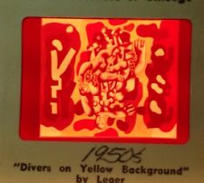 """Fernand Leger """"Divers On Yellow Background"""" 35mm French Cubist Cubism Art Slide"""