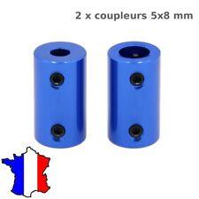 2 coupleur rigide 5x8 mm en aluminum  5*8 imprimante3d, cnc ,moteur