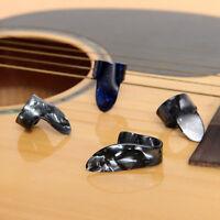 Plastic 1 Thumb And 3 Finger Nail Guitar Picks Plectrums Set WL