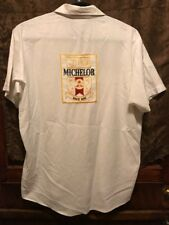 MICHELOB BUDWEISER BREWING ~ VTG 1970s ~ LRG ~ Unitog Beer Delivery Work Shirt