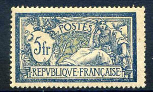 France 5f Blue and Yellow Yvert123a Unmounted Mint