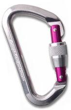Omega Pacific Classic Locking Gate Carabiner - Purple Locking Gate