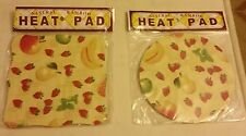 Set of 2 Natural Bamboo Heat Pads, Fruits, square & round
