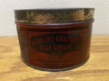 ANTIQUE WADHAM'S OIL COMPANY ~ AXLE GREASE CAN ~ GAS STATION ~ AUTOMOBILE