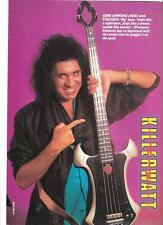 KISS Gene and bass killerwatt  magazine PHOTO / mini Poster 11x8 inches