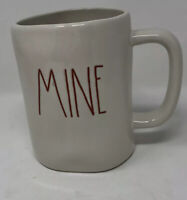 "RAE DUNN By MagenTa Valentine Day ""MINE"" Mug w/Red Letters NEW"