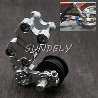Universal Motorcycle Alloy Adjustable Chain Tensioner PIT Trail Dirt Bike Silver