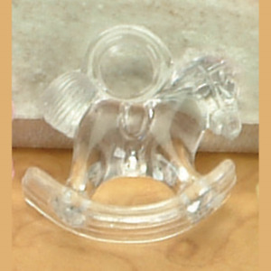 """Mini Acrylic 1"""" ROCKING HORSE CHARM Baby Shower Choose Color & Pack Amount"""