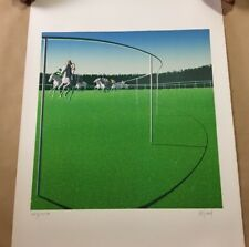 """Horse Race #5"" By Bezard Signed Lithograph w/COA"