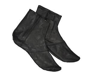 Wudu Masa Socks Genuine Leather Socks Khuffs Footwear Various Sizes Black