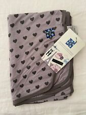 NEW Kickee Pants Swaddling Blanket in Feather Hearts (2017)