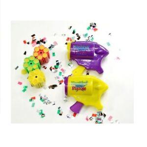 Mini Konfettipistole mit 3 Patronen a 6 Schuss m Sound Party Karneval Fasching