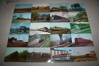 Vintage collection of Railroad Locomotives postcards lot of 20, unwritten