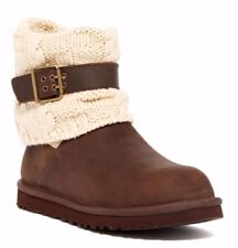 NWT $170 UGG Australia Cassidee UGGpure (TM) Lined Knit Cuff Boot Brown Size 9