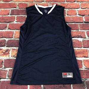 Nike dri fit Womens large Tall Team Basketball Jersey Sleeveless Tank top