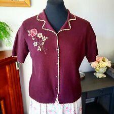 Vintage 1940's 1950's Short Sleeve Cardigan