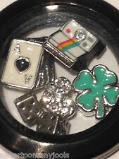 AUTHENTIC ORIGAMI OWL LAS VEGAS ~ LOCKET & CHARMS ~ DICE CARDS LUCK HEART GAME