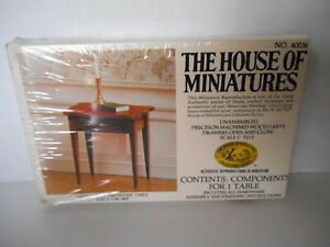 HOUSE OF MINIATURES FURNITURE KIT HEPPLEWHITE SERPENTINE TABLE VINTAGE 1980