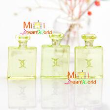 1/12 Dollhouse Miniature Bathroom Bedroom 3PCS TOY Green Plastic Perfume