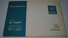 Betriebsanleitung Handleiding Mercedes T2 Transporter Pritsche L 410 / O 309 B