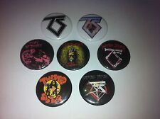 7 Twisted Sister Button Badges Dee Snider Hot Love I wanna Rock Hair Metal Crue