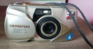 Olympus Stylus Epic Zoom 115 35mm Film Point & Shoot Camera Need Battery