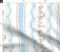 Stripes Scallops Ticking Stripes Farm Cottage Spoonflower Fabric by the Yard