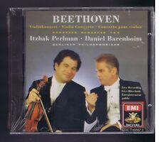 BEETHOVEN CD (NEW) VIOLIN CONCERTO / ITZHAK PERLMAN/ DANIEL BARENBOIM(+CATALOGUE