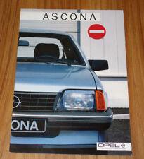 Catalogue OPEL ASCONA C de 1985