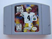 NFL Quarterback Club 99 QB Nintendo 64 N64 OEM Video Game Cart Authentic GOOD!