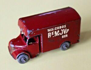 MATCHBOX REGULAR WHEELS 1-75. 17A BEDFORD REMOVAL VAN 1956. UNBOXED