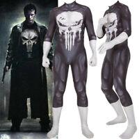 The Punisher Frank Castle Adult Kids Cosplay Costume Zentai Bodysuit Suit