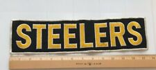 "Pittsburgh Steelers Football Team Name 13.5"" Long Embroidered Back Jacket Patch"