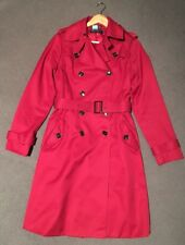 David Lawrence Red Trench Coat Size 10