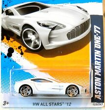 2012 Hot Wheels ALL STARS #123 * ASTON MARTIN ONE-77 * NiCE MF WHITE PR5s