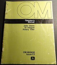 John Deere 35 Integral Rotary Tiller Operators Manual Om-M49650 (164)