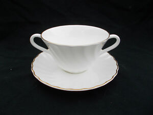 Wedgwood GOLD CHELSEA  Soup Cup and Saucer