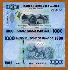 Rwanda, 1000 (1,000) Francs, 2019, P-New, New security Features UNC > Monkey
