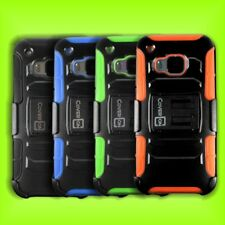Protective Holster Clip Cover Hard & Soft Hybrid Stand Case for HTC One M9 Phone