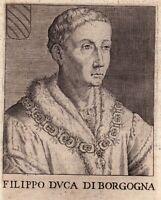 Portrait XVIIe Filippo III Di Borgogna Duca Di Lorena e Del Brabante 1646