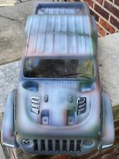 CUSTOM PAINTED RC BODY, XMAXX, X-MAXX, X MAXX, JEEP, PATINA PAINT THEME