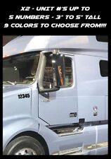 "2 - UNIT #'s - Semi Truck Number - VIN USDOT MC Vinyl Decal Stickers - 3"" To 5"""