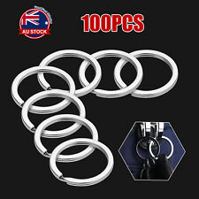 Bulk 100pcs 25mm Metal Key Holder Split Rings Keyring Keychain Accessories Z