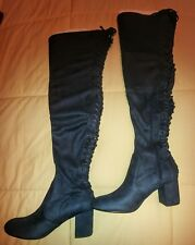 Charles David Over-The-Knee boots Size 7.5 Navy Blue Fabric Ollie NEW