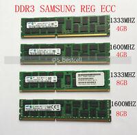 Samsung DDR3 LR 4GB 8GB 16GB 32GB 1333 1600 MHz 240Pin ECC REG Server Memory Lot