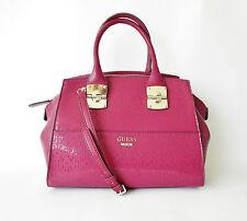 Guess Rosalind Avenue Satchel, Claret Color Handbag, MSRP $128